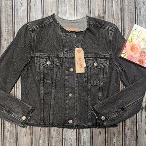 Levi Aged Black Denim Jacket